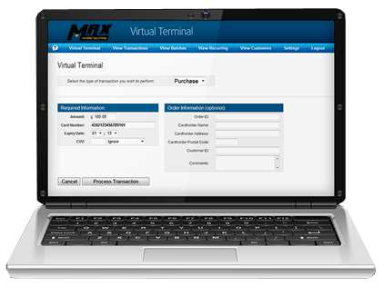Virtual Terminal MAX Payment Solutions Elavon